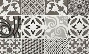 Faux Carreaux De Ciment : sol vinyle booster d cor carreaux ciment blanc et noir ~ Dailycaller-alerts.com Idées de Décoration