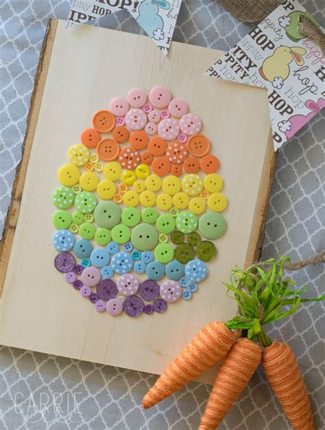 easter and craft ideas easy easter craft button easter egg carrie 6482