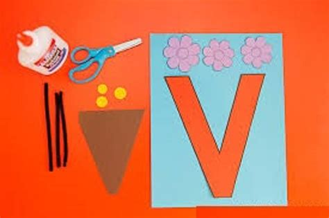 letter v crafts for preschool preschool and kindergarten 930 | letter v craft for kindergarten