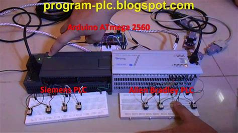 connecting between allen bradley plc and siemens plc using arduino atmega 2560