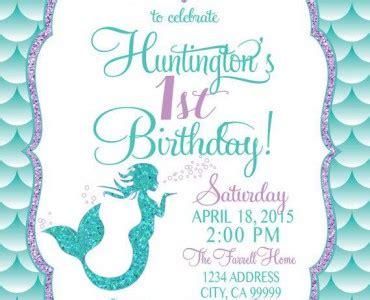 mermaid invitation template baby shower invitation templates mermaid birthday invitations easytygermke invitation