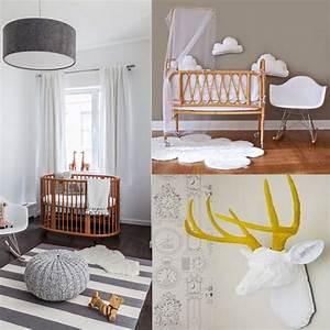 une chambre bebe blanche design et classique a la fois With deco chambre bebe design