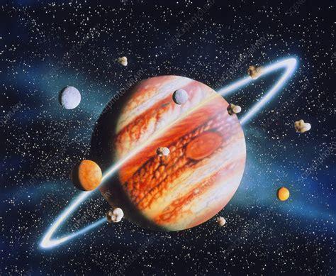 artwork  jupiter  moons  ring stock image