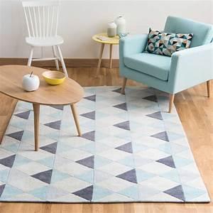 tapis a poils courts bleu 140 x 200 cm nordic maisons du With tapis kilim avec canapé 20 fois sans frais