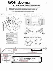 Closer Door Ryobi Doorman Install Instructionstemplates
