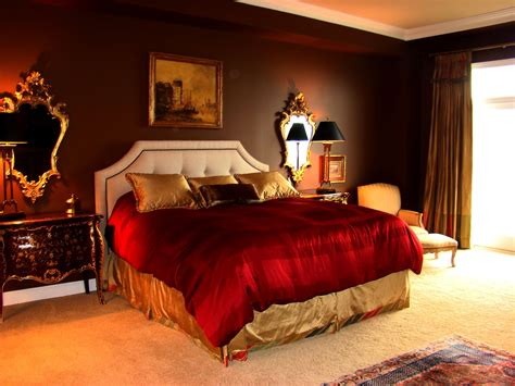 Red And Brown Painting Colour Ideas For Bedroom  Home Combo