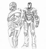 Coloring War Machine Iron Colouring Drawing Avengers Marvel Lego Captain America Boys Getdrawings Boy Armor sketch template