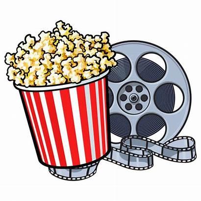 Popcorn Cinema Reel Film Bucket Illustration Clip