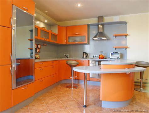 Contemporary Orange Kitchen Cabinets Designs  Modern Home