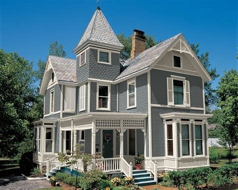 gray  white exterior paint curb appeal pinterest