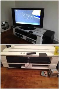 pallet tv stand meuble tv en palettes o 1001 pallets With meuble en palette