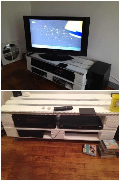 Pallet TV Stand / Meuble TV En Palettes ? 1001 Pallets