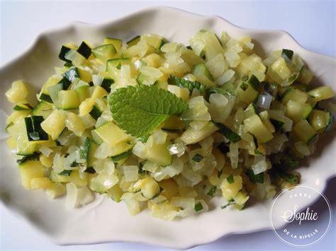 cuisine des courgettes salade de courgettes mi cuites à la menthe la tendresse