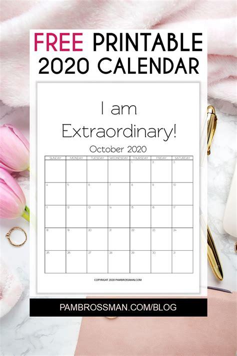 printable calendar  pam brossman