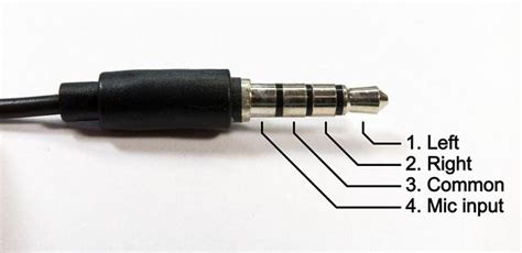 Iphone Headset Connector Pinout