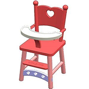 chaise haute poupée amazon com you me doll high chair toys