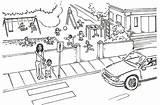 Traffic Coloring Colouring Pedestrian Safety Lights Designlooter 1923 14kb 1275px Webquest sketch template