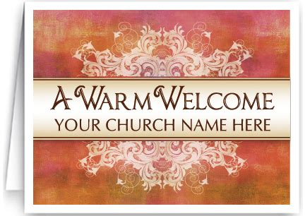 welcome to our church card 1509 ministry greetings