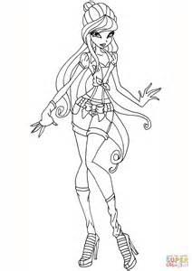 winx da colorare musa musa gardenia coloring page free printable coloring pages