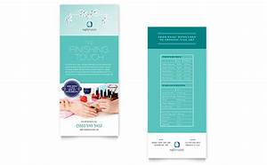 nail technician rack card template design With rack card template for word
