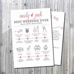 printable destination wedding icon itinerary with welcome With destination wedding invitations itinerary