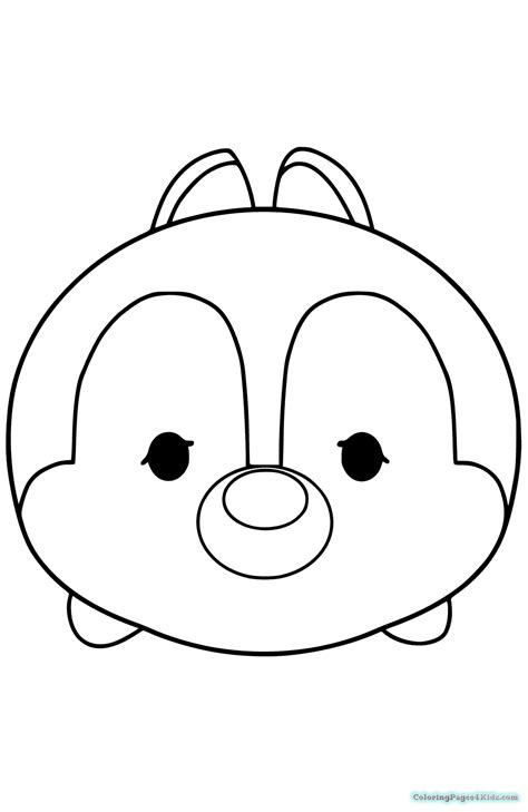 Coloring Tsum Tsum by Tsum Tsum Disney Coloring Pages Coloring Pages For