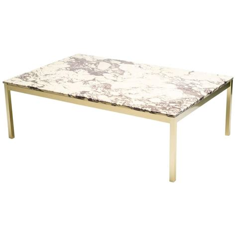 marble brass coffee table danish marble and brass coffee table at 1stdibs