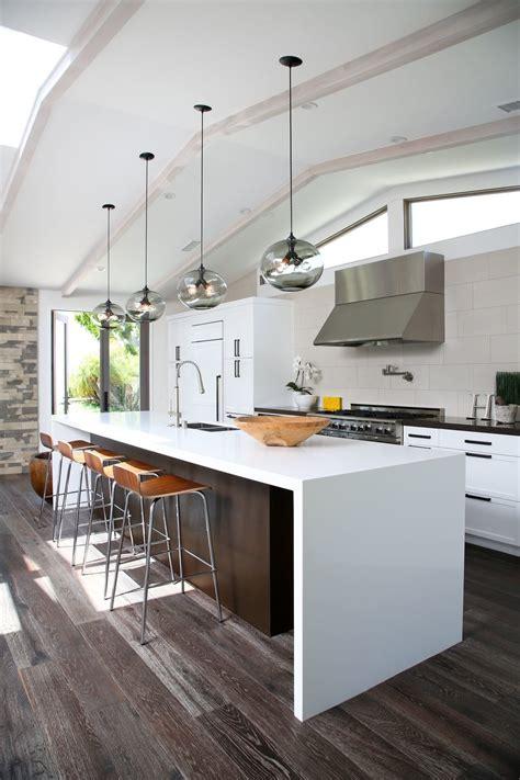 photo     kitchen island modern lighting adds