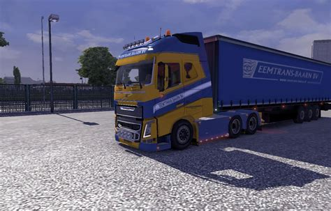 volvo trailer for eemtrans baarn skin trailer for volvo fh16 euro truck