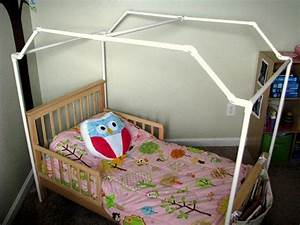pvc framed canopy bed gluesticks With diy canopy bed from pvc pipes