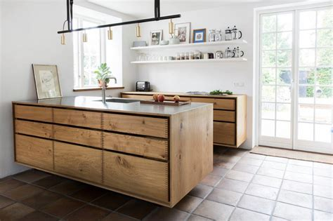true wood cabinets model dinesen bespoke wooden kitchen with steel tabletop
