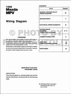 1998 Mazda Mpv Wiring Diagram Manual Original