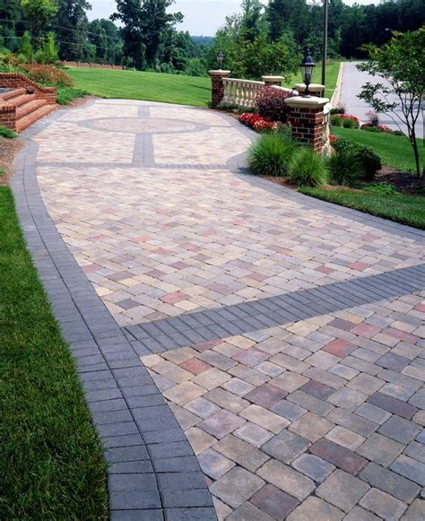 landscaping ideas pavers paver banding design ideas for pavers landscape pinterest patios driveways and backyard