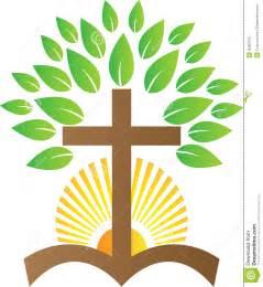 Tree and Cross Clip Art