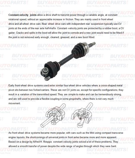 Cv Exles For Work by How A Cv Axle Works