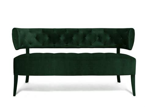 banquette audrey velours vert arteslonga