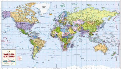 world sea routes map major sea routes   world