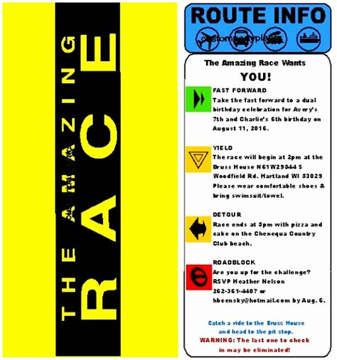 The Amazing Race Clue Template by 9 Amazing Race Envelope Template Atppe Templatesz234