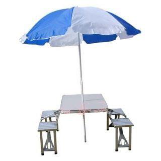folding picnic table with umbrella aluminium portable folding picnic table chairs set with