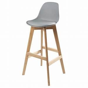 But Chaise Scandinave : chaise de bar scandinave grise ice maisons du monde ~ Teatrodelosmanantiales.com Idées de Décoration