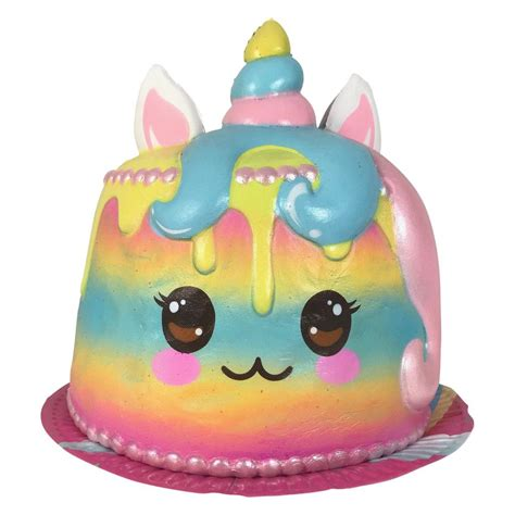 puni maru jumbo  squishable rainbow unicorn cake