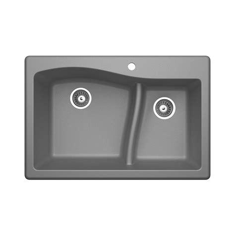 swan granite kitchen sinks swan dualmount granite 33 in 1 large small 5953