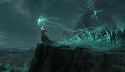 Sorcerer Necromancer Undead Dark Wallpapers Warrior Background