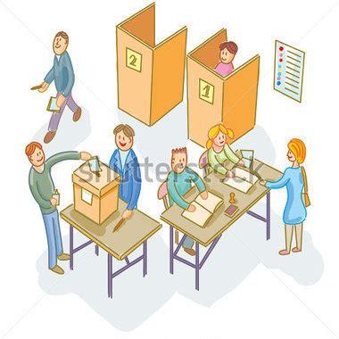 les bureaux de vote voting day clipart 42