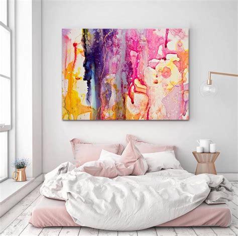 artwork  bed  floor abstract themed bedroom diy