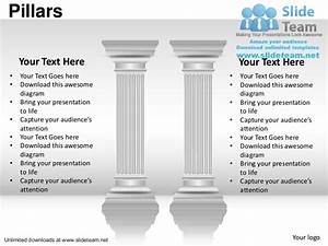 Business Important Pillars Of Strength Power Point Slides