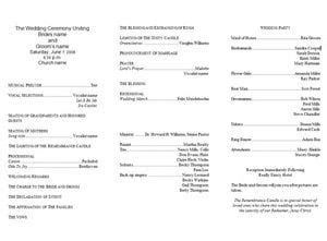 Tri Fold Event Program Template by Free Wedding Program Templates Free Tri Fold Wedding