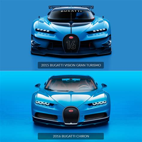 Bugatti Chiron vs Vision Gran Turismo - Design Comparison