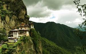 Mountains old houses Chinese asian architecture Cliff ...