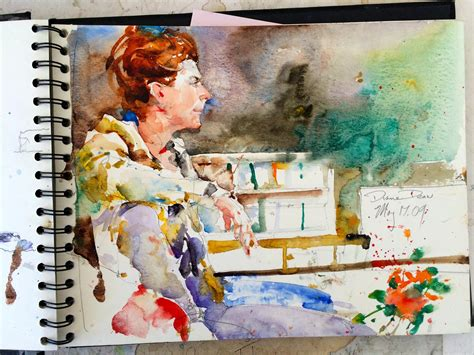 WATERCOLOR PAINTINGS SKETCH BOOK BY CHARLES REID - Art ...